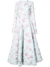 Christian Siriano | платье с расклешенной юбкой и цветочным узором Christian Siriano | Clouty