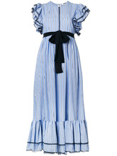 MSGM   платье в полоску с оборками  MSGM   Clouty