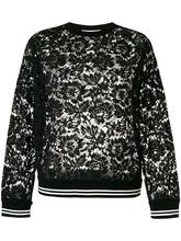 VALENTINO | свитер с цветочным принтом и кружевом  Valentino | Clouty