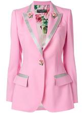 Dolce & Gabbana | однобортный блейзер с розами  Dolce & Gabbana | Clouty