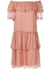 Alberta Ferretti | платье с открытыми плечами и оборкой  Alberta Ferretti | Clouty