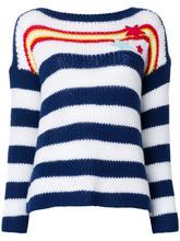 Ermanno Scervino | свитер в полоску с нашивкой-звездой  Ermanno Scervino | Clouty
