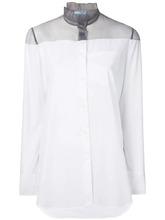 PRADA | рубашка с полупрозрачной вставкой  Prada | Clouty