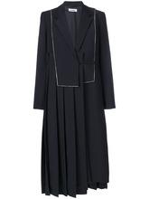 JIL SANDER | пальто с поясом и плиссировкой Jil Sander | Clouty