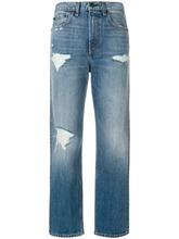 RAG & BONE | укороченные джинсы с рваными деталями Rag & Bone /Jean | Clouty