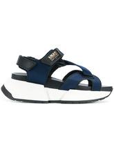 MM6 Maison Margiela | сандалии на платформе с перекрещивающимися лямками Mm6 Maison Margiela | Clouty