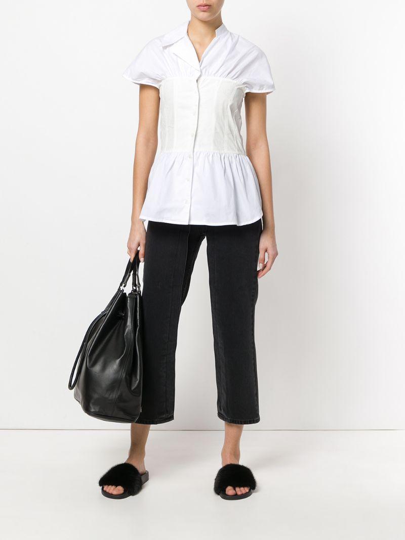 Aalto | Белый присборенная рубашка  Aalto | Clouty