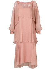 Alberta Ferretti | асимметричное многослойное платье  Alberta Ferretti | Clouty