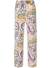 Etro | брюки с высокой талией с принтом Etro | Clouty