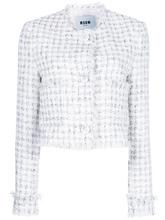 MSGM | укороченный твидовый пиджак MSGM | Clouty