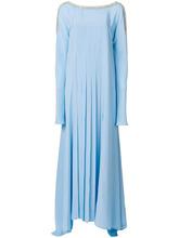 Versace | плиссированное платье макси с отделкой кристаллами  Versace | Clouty