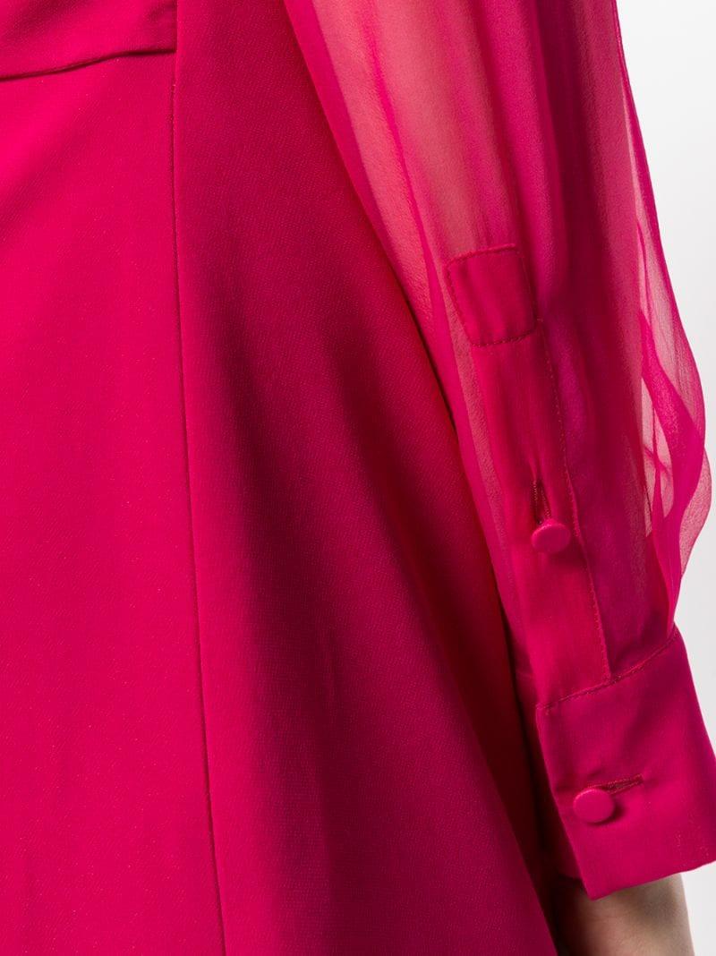 GIVENCHY | Розовый и фиолетовый вечернее платье с прозрачными рукавами Givenchy | Clouty