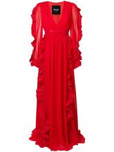 MSGM   вечернее платье с оборками MSGM   Clouty