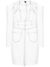 Cristina Savulescu | джинсовое платье с открытыми плечами | Clouty