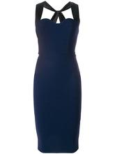 Victoria Beckham | приталенное платье с перекрестными бретельками сзади  Victoria Beckham | Clouty