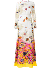 MSGM   платье с цветочным принтом MSGM   Clouty