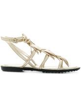 Tod's | сандалии с ремешками и бахромой Tod's | Clouty