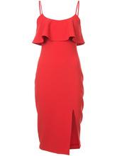 Likely   платье на бретелях с оборкой на лифе Likely   Clouty