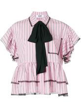 MSGM | рубашка с контрастным бантом MSGM | Clouty