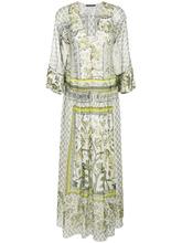 Alberta Ferretti | длинное платье-туника с принтом Alberta Ferretti | Clouty