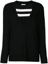 P.A.R.O.S.H. | свитер с V-образным вырезом и полосками сзади  P.A.R.O.S.H. | Clouty