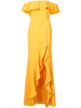 Jay Godfrey   вечернее платье с открытыми плечами и оборками Jay Godfrey   Clouty