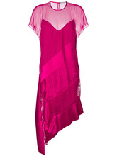 GIVENCHY | многослойное асимметричное платье-миди Givenchy | Clouty