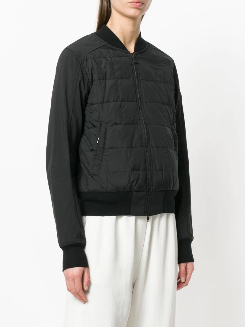 CANADA GOOSE | Чёрный стеганая куртка на молнии Canada Goose | Clouty