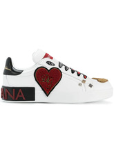 Dolce & Gabbana | heart embellished sneakers Dolce & Gabbana | Clouty