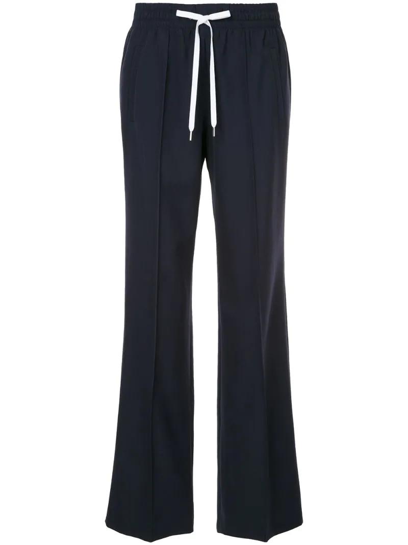 MIU MIU | Синий drawstring-waist tailored trousers Miu Miu | Clouty