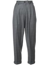 R13 | укороченные клетчатые брюки R13 | Clouty