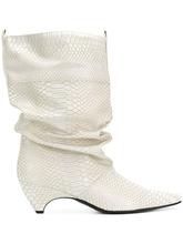 Stella McCartney   ботильоны с заостренным носком и эффектом змеиной кожи   Clouty
