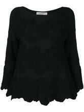 D.Exterior | блузка с цветочной вышивкой | Clouty