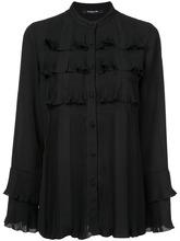 Derek Lam | плиссированная рубашка на пуговицах с оборками | Clouty