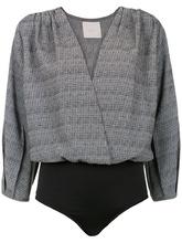 Framed | tweed bodysuit | Clouty