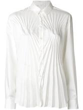 Maison Margiela   приталенная рубашка с плиссированной отделкой   Clouty