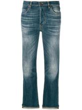 6397 | укороченные расклешенные джинсы | Clouty