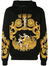 Versace | толстовка с капюшоном с принтом в стиле барокко | Clouty