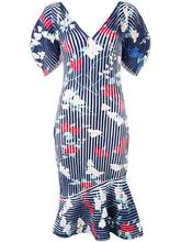SALVATORE FERRAGAMO | структурированное платье с принтом Salvatore Ferragamo | Clouty