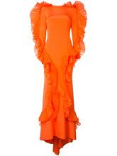 Christian Siriano | вечернее платье с оборками Christian Siriano | Clouty