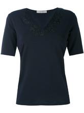 D.Exterior | футболка с V-образным вырезом и кружевом | Clouty