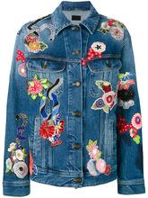 SAINT LAURENT | джинсовая куртка с заплатками Saint Laurent | Clouty