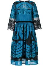 Alberta Ferretti | расклешенное платье с прозрачной деталью Alberta Ferretti | Clouty