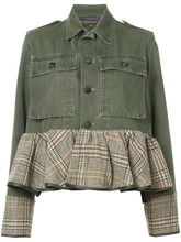 Harvey Faircloth | джинсовая куртка с баской Harvey Faircloth | Clouty