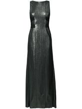 Galvan  London   платье халтер с контрастной отделкой  Galvan   Clouty