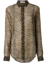 SAINT LAURENT | рубашка с леопардовым принтом Saint Laurent | Clouty