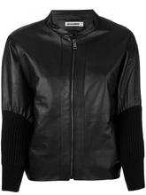 JIL SANDER | куртка из кожи с манжетами в рубчик Jil Sander | Clouty