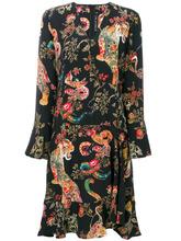 Etro | платье с длинными рукавами и принтом животных Etro | Clouty