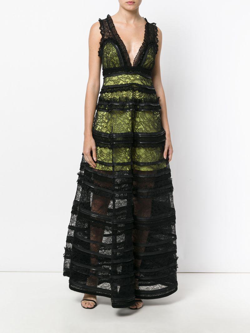 GIVENCHY | Чёрный платье с кружевной отделкой Givenchy | Clouty