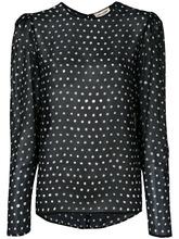 SAINT LAURENT | блузка с узором в горох Saint Laurent | Clouty